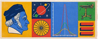 صفحه اول گوگل به مناسبت تولد کارل فریدریش گاوس