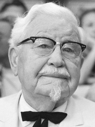 """کلنل ساندرز مؤسس رستورانهای زنجیره ای """"KFC"""""""
