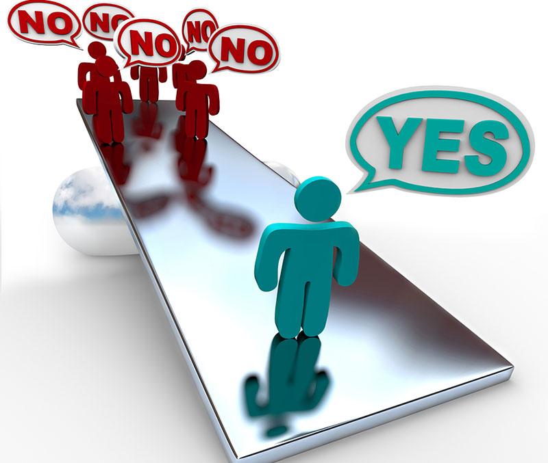 عدم موفقیت - همیشه «بله» گفتن
